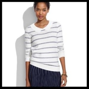 Madewell Collared Striped Sweater